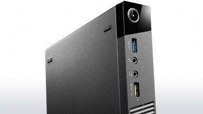 Lenovos Tiny-Rechner gibt es jetzt auch mit einer externen PS/2-Box.