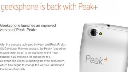 Peak+ mit Firefox OS