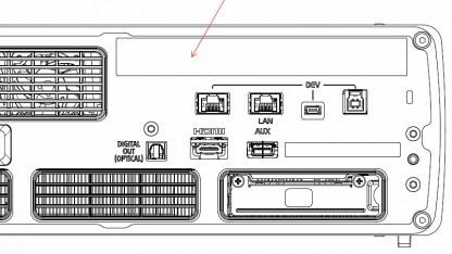 Rückseite des PS 4-Devkits mit Debug-Ports