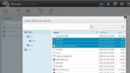 Der neue Datei-Client im Webmail-Interface