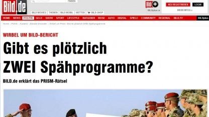 Die Bild-Zeitung zitiert Prism in einem Nato-Dokument von 2011.