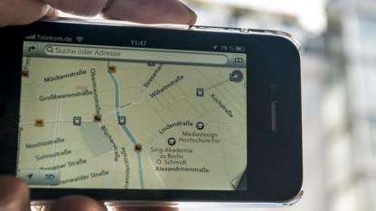 Kartenanwendung auf dem iPhone