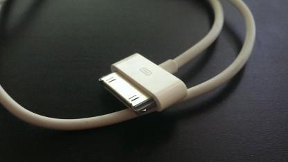 Ein iPhone-Ladekabel
