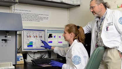 Maria Rudchenko im Labor: Zellen in 15 Minuten markiert