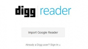 Digg Reader ist gestartet.
