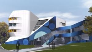 Gebäude des Fraunhofer IAO in Stuttgart/Fotomontage