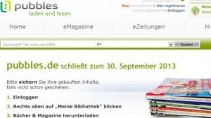 Onlinekiosk Pubbles: künftig Vertriebsplattform für den Tolino Shine