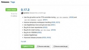 Github unterstützt Releases.
