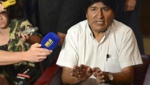 Boliviens Präsident Morales bei seinem Zwangsstopp in Wien
