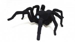 Robugtix T8: Schwarzer Spinnenroboter aus dem 3D-Drucker