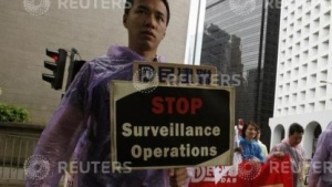 Proteste gegen Überwachung durch US-Geheimdienste in Hongkong
