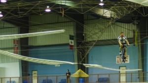 Muskelkrafthubschrauber beim Rekordflug