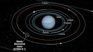 14. Neptun-Mond S/2004 N1: kleiner weißer Punkt