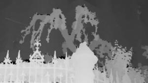 3D-Bild: gut erkennbare Silhouetten
