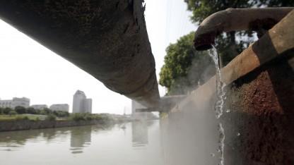 Abwasser in Kunshan im Jahr 2011