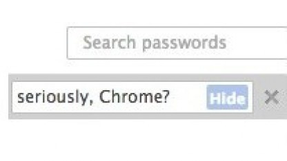 Chrome zeigt gespeicherte Passwörter im Klartext an.