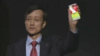 LG-Mobile-Chef Jong-seok Park präsentiert das LG G2.