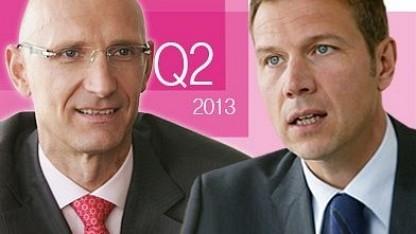 Der künftige Telekom-Chef Timotheus Höttges (l.) und René Obermann