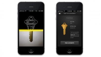 Keyme scannt und speichert Schlüssel.