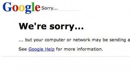 Nach der Captcha-Abfrage kann der Ausschluss von der Google-Suche erfolgen.