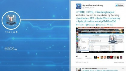 Twitter-Seite der Syrian Electronic Army: Zugang durch Phishing-Attacke