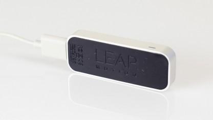 Der Leap Motion Controller aus der Nähe