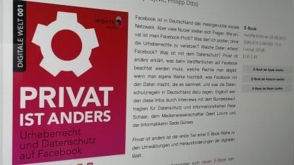 Die Verlagsseite zum E-Book Privat ist anders - Urheberrecht und Datenschutz auf Facebook