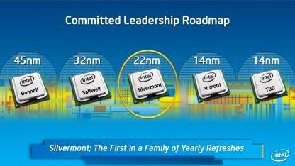 Intels 14-nm-Atoms sollen im Herbst 2014 erscheinen.