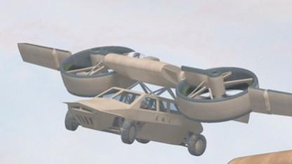 Transformer TX transportiert ein Fahrzeug.