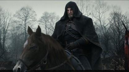 Geralt von Riva hoch zu Ross.
