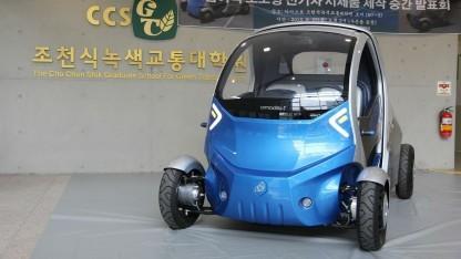Elektrofaltauto Armadillo-T: Einparken per Smartphone