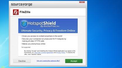 Der neue Installer von FileZilla.