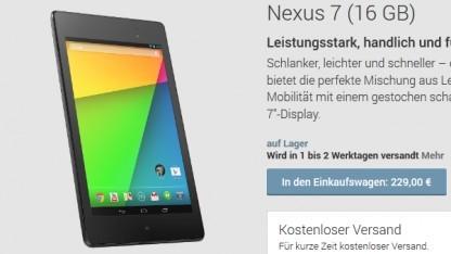 LTE-Version des neuen Nexus 7 nicht im Play Store