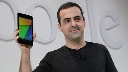 Hugo Barra bei der Präsentation des neuen Nexus 7