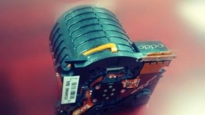 Die von Oppo gezeigte Komponente der Objektivkamera