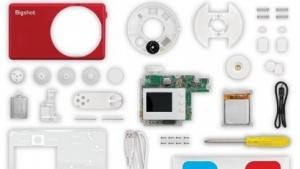 Bigshot-Kamera in Einzelteilen