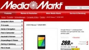 Neues Nexus 7 kann bei Media Markt vorbestellt werden.