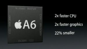 Beim A6 gab Apple eine Verdopplung an, beim A7 ist das nicht abzusehen.