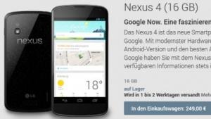 Google senkt Preis für Nexus 4.