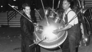 Erinnerung an bessere Tage: Modell von Lunik, einer der ersten sowjetischen Mondsonden