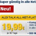Aldi Talk All-Net-Flat: Telefon-, SMS- und Internet-Flatrate für 20 Euro