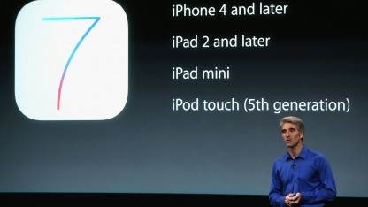 Apple Senior Vice President Software Engineering, Craig Federighi, spricht am 10. September 2013 über iOS 7.