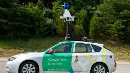 Das ist das Original: ein Street-View-Fahrzeug von Google