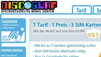 Drei Datenflatrates mit je drei SIM-Karten