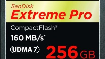 Extreme Pro Compactflash mit 256 GByte