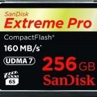 Speicherkarten: Sandisk stellt Compactflash-Karte mit 256 GByte vor