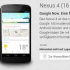Google: Nexus 4 zum Vorzugspreis vergriffen
