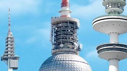 Fernsehtürme mit DVB-T-Antennen