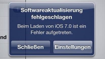 Das iOS-7-Update macht Probleme beim Download,