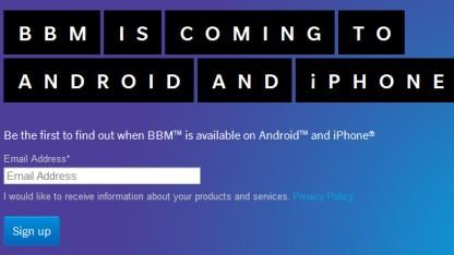Blackberry Messenger für Android und iOS verschoben
